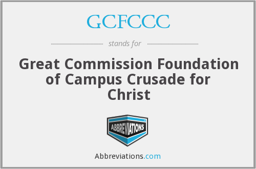 What does GCFCCC stand for?