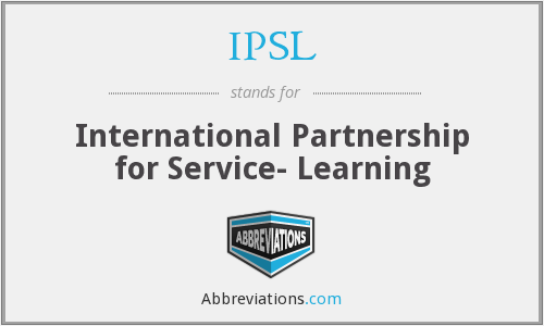 What does IPSL stand for?