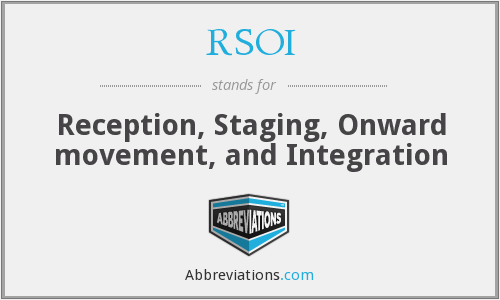 What does RSOI stand for?