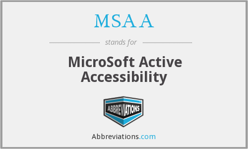 What does MSAA stand for?