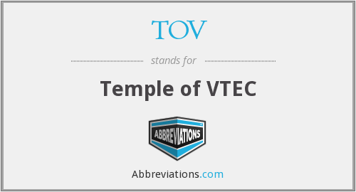 What does TOV stand for?