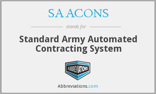 What does SAACONS stand for?