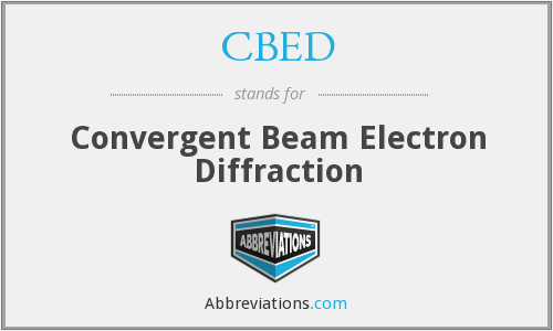 What does CBED stand for?
