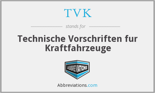What does TVK stand for?