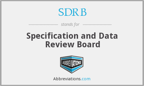 What does SDRB stand for?