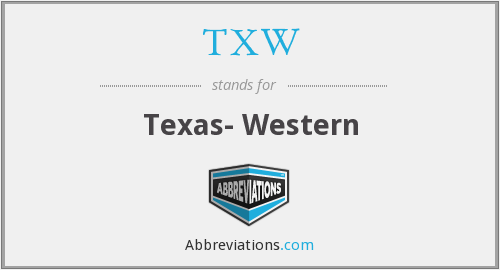 What does TXW stand for?