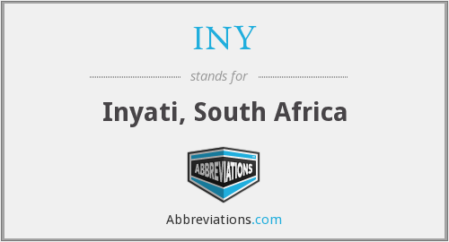 What does INY stand for?