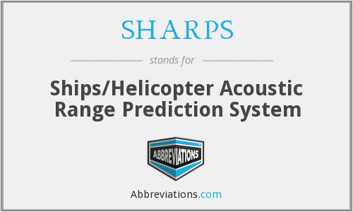 What does SHARPS stand for?