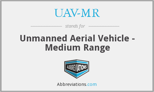 What does UAV-MR stand for?