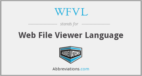 What does WFVL stand for?