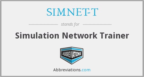 What does SIMNET-T stand for?