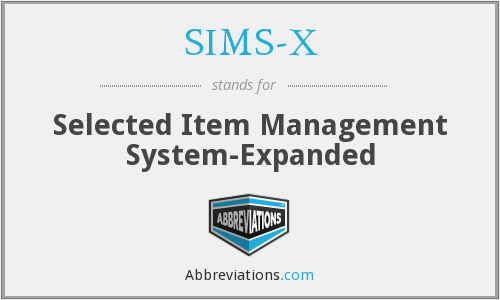 What does SIMS-X stand for?