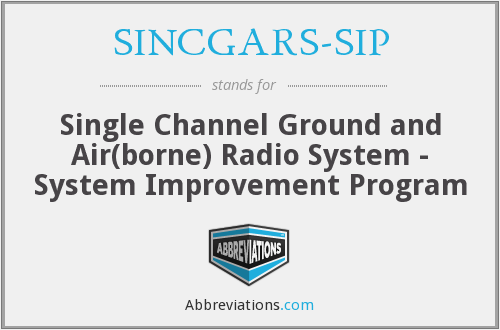 What does SINCGARS-SIP stand for?
