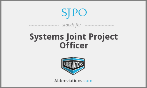 What does SJPO stand for?