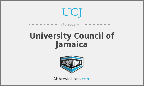 What does UCJ stand for?