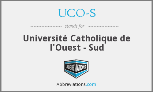What does UCO-S stand for?