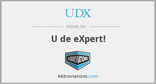 What does UDX stand for?