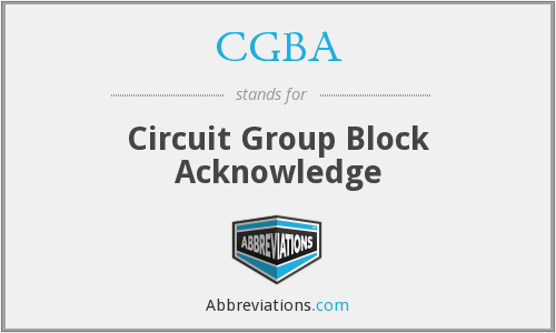 What does CGBA stand for?