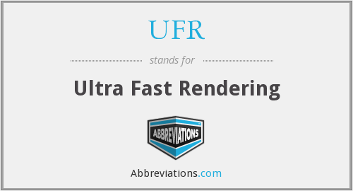 What does UFR stand for?