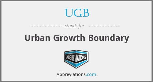What does UGB stand for?