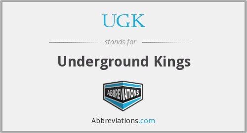 What does UGK stand for?