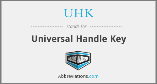 What does UHK stand for?