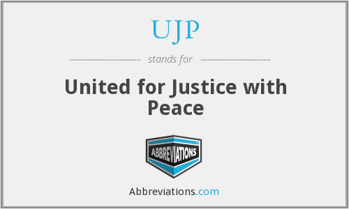What does UJP stand for?