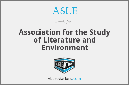 What does ASLE stand for?
