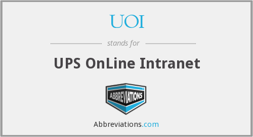 What does UOI stand for?