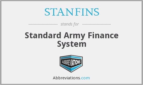 What does STANFINS stand for?