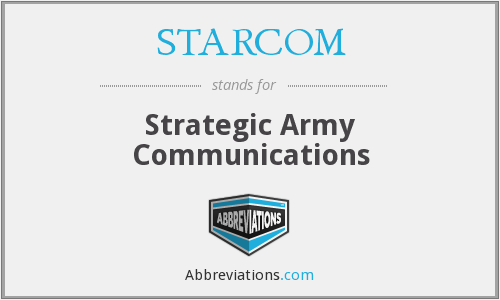 What does STARCOM stand for?