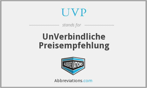 What does UVP stand for?
