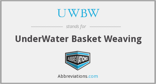 What does UWBW stand for?