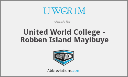 What does UWC-RIM stand for?