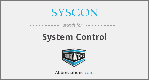 What does SYSCON stand for?