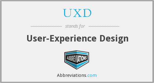 What does UXD stand for?