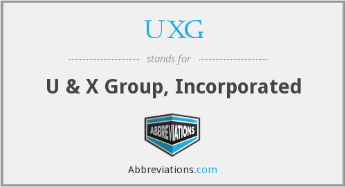 What does UXG stand for?