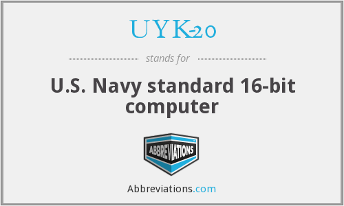 What does UYK-20 stand for?