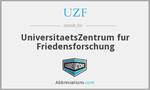 What does UZF stand for?