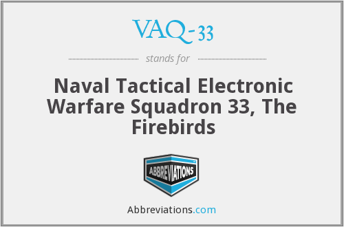 What does VAQ-33 stand for?