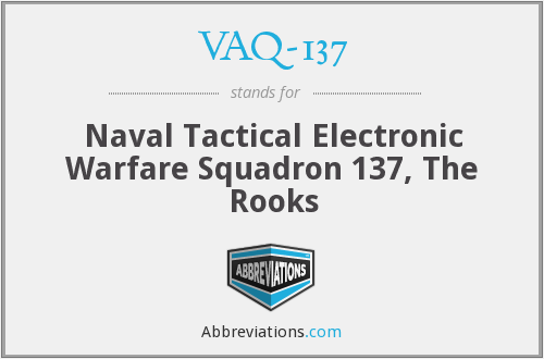 What does VAQ-137 stand for?