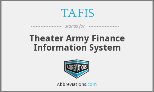 What does TAFIS stand for?