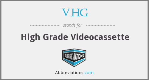 What does VHG stand for?