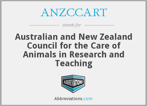 What does ANZCCART stand for?