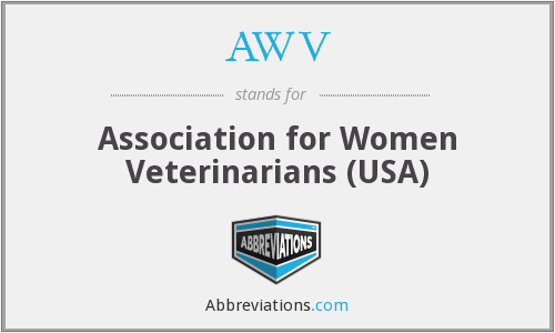 What does AWV stand for?
