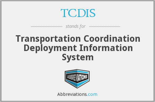 What does TCDIS stand for?