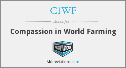 What does CIWF stand for?