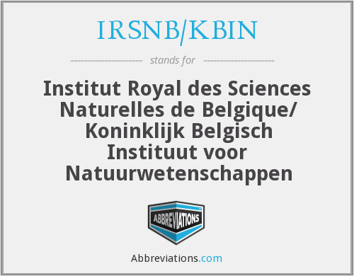 What does IRSNB/KBIN stand for?