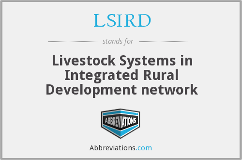 What does LSIRD stand for?
