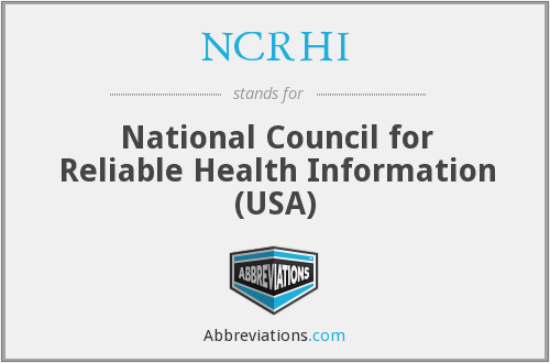 What does NCRHI stand for?